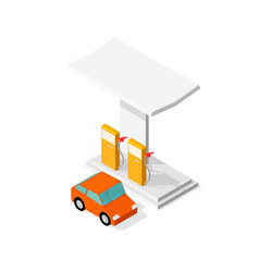 filling station refilling fuel motorway road vector image