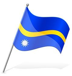 Flag of nauru vector