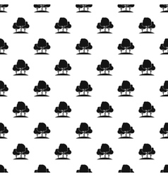 Forest trees pattern simple style vector image