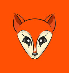 Fox head logo vector