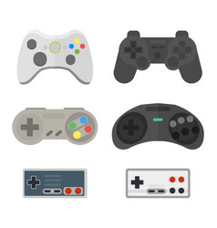 game console joystick vector image