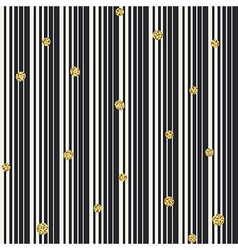 Gradient lines and golden dots seamless pattern vector image