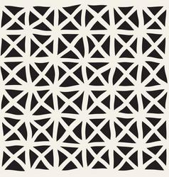 hand drawn line lattice seamless black vector image