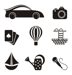 Hoband leisure icons vector