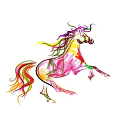 Horse sketch colorful for your design Symbol of vector image