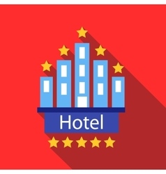Hotel 5 stars icon flat style vector image