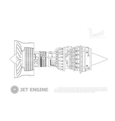 Jet engine aircraft part airplane vector