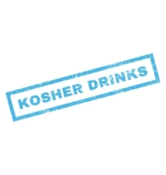 Kosher Drinks Rubber Stamp vector