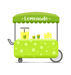 Lemonade street food cart colorful image vector