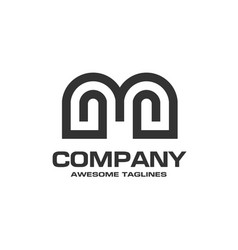 letter m geometric business logo design vector image