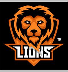 Lions mascot sports logo vector