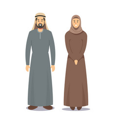 man and woman arabic people bearded arabian male vector image