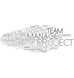 Manage word cloud concept vector