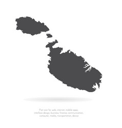 map malta isolated black on vector image