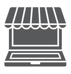 Marketplace online glyph icon e commerce vector