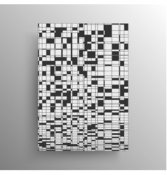 Minimalist abstract black and white geometry vector