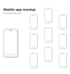 Mobile application screens mockup vector