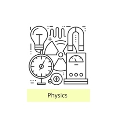Modern thin line icons of physics vector
