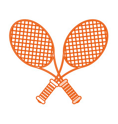 Monocromatic rackets design vector
