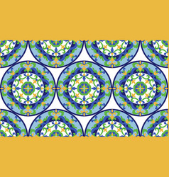 mosaic classic colorful medallion seamlessn vector image