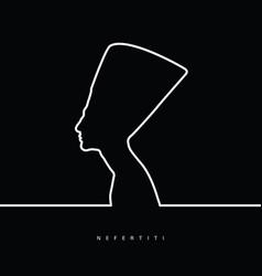 Nefertiti face beauty vector