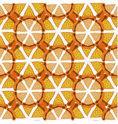 Orange background bright seamless pattern hand vector