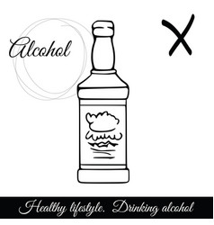 outline alcoholic beverage icon a symbol vector image