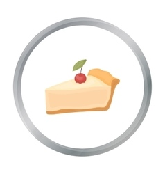 Piece of thanksgiving pie icon in cartoon style vector