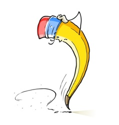 question cartoon lead pencil vector image