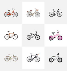 realistic equilibrium competition bicycle vector image vector image