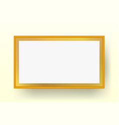realistic golden frame vector image