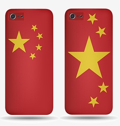 Rear covers smartphone with flags of China vector image
