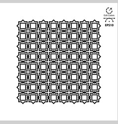 seamless geometric ornamental pattern vector image