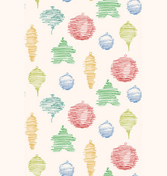 seamless pattern made of sketched christmas vector image