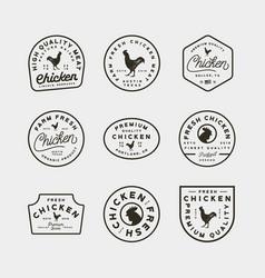 set of premium fresh chicken meat labels vector image