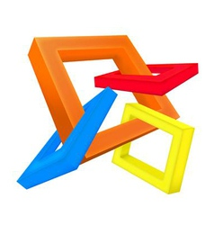 Square 3D vector image