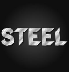 steel lettering aluminum corrugated vector image