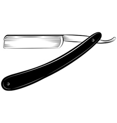 Straight razor on a white background vector image