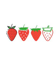 strawberry icon design template isolated vector image