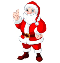 Thumbs Up Santa Claus vector image