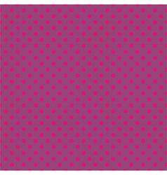 Tile pattern pink polka dots on violet background vector