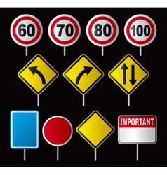 Traffic Speed Signs vector image