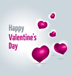 valentines day card with flying hearts vector image
