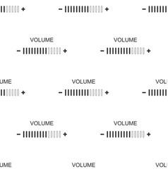 Volume adjustment icon seamless pattern vector