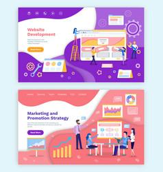 website development marketing and promotion set vector image
