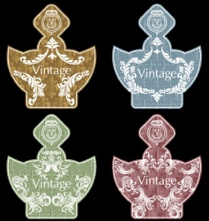 wine labels36 vector image