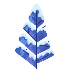 winter abstract tree with snow vector image