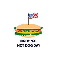 World day hot dog flag of the united states vector