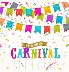 Carnival greeting card vector