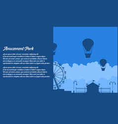 flat amusement park background vector image